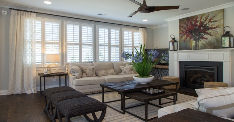 Interior Shutters in Sacramento Living Room