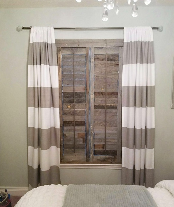 Sacramento reclaimed wood shutter bedroom