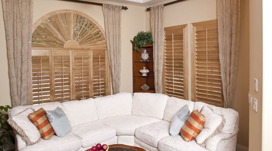 Ovation Wood Shutters In Sacramento Living Room