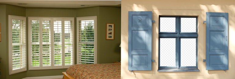 Sacramento CA indoor and outdoor shutters