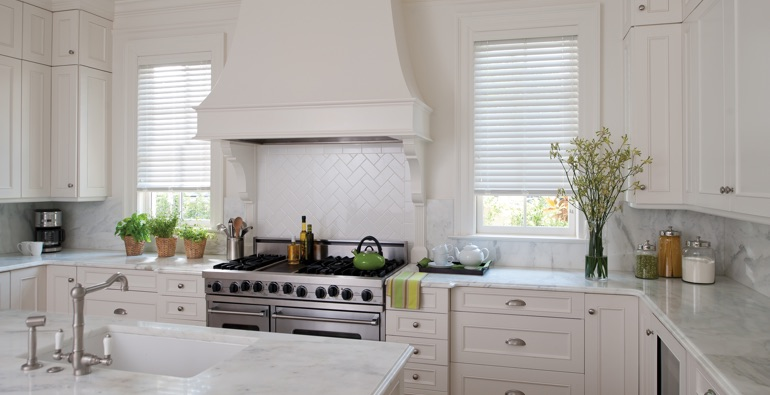 Sacramento kitchen white blinds
