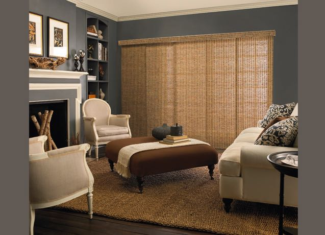 Sacramento living room wide vertical blinds