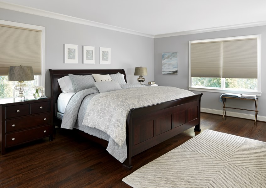 Sacramento blackout shades bedroom