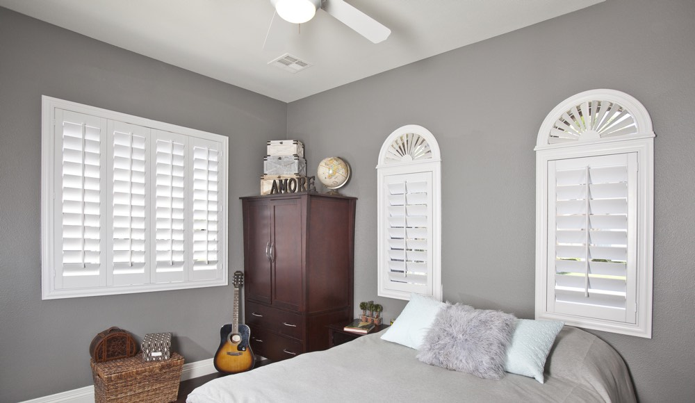 Polywood Shutters In A Sacramento Bedroom