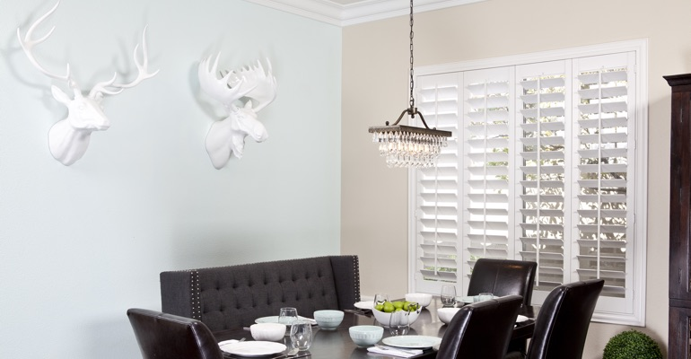 Sacramento dining room shutters