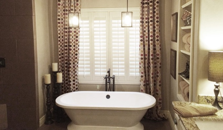 Polywood Shutters in Sacramento Bathroom