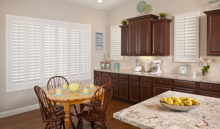 Polywood Shutters in Sacramento kitchen