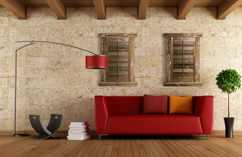 Reclaimed Wood Shutters In A Sacramento Living Room. - Reclaimed Wood Shutters For Sale Sunburst Shutters Sacramento, CA
