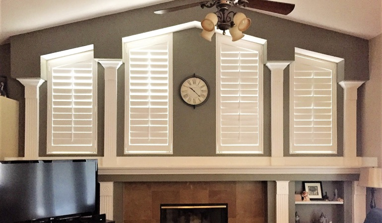 Polywood Shutters in Family Room in Sacramento