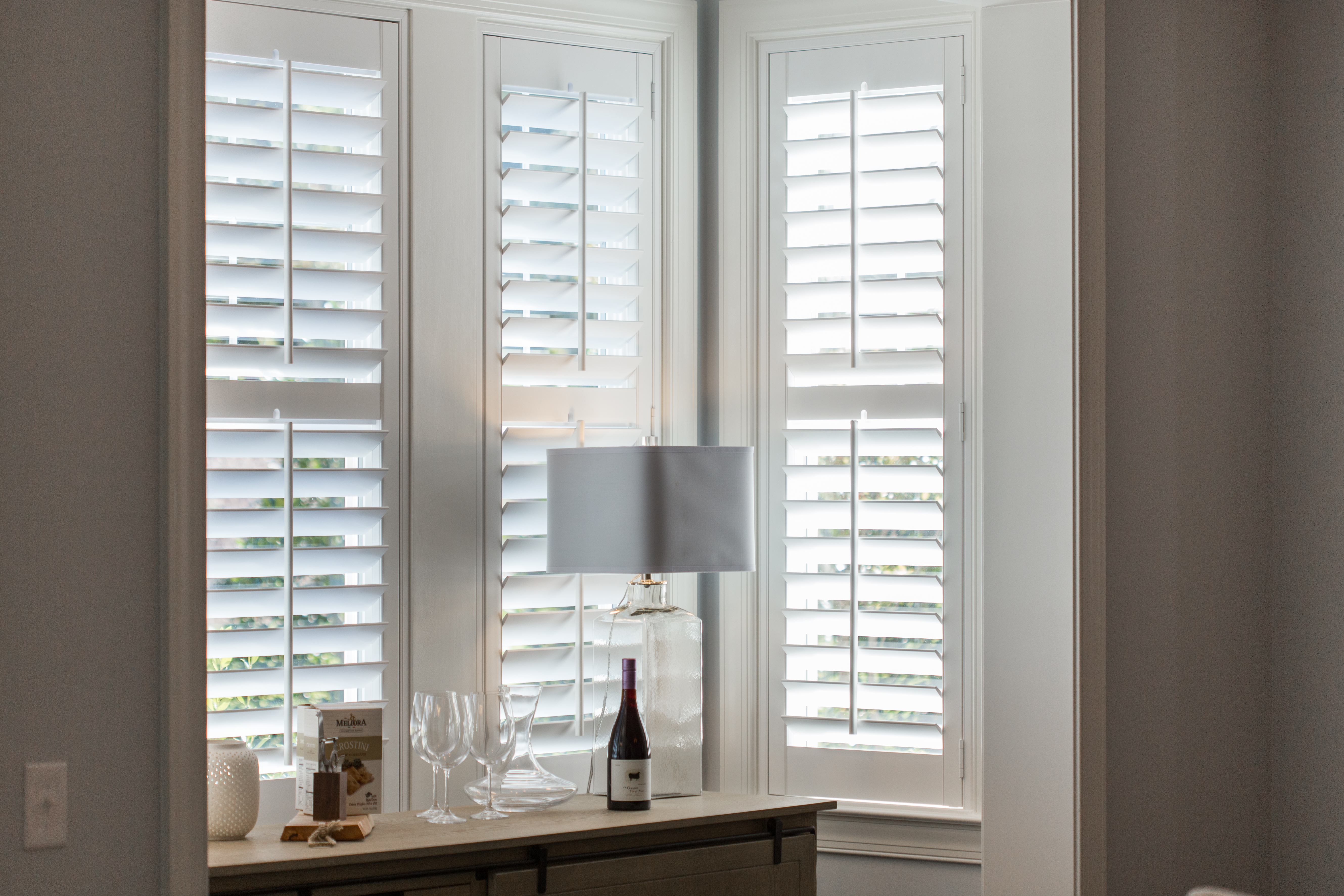 Polywood shutters in Sacramento alcove.