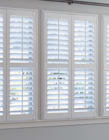 Hidden tilt rod shutters on Sacramento windows