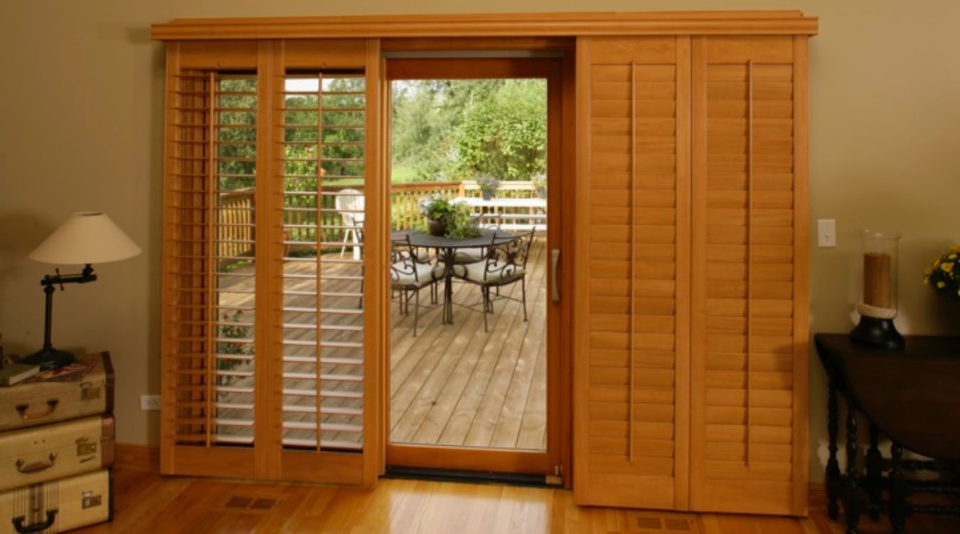 Sliding Glass Door Shutter In Sacramento