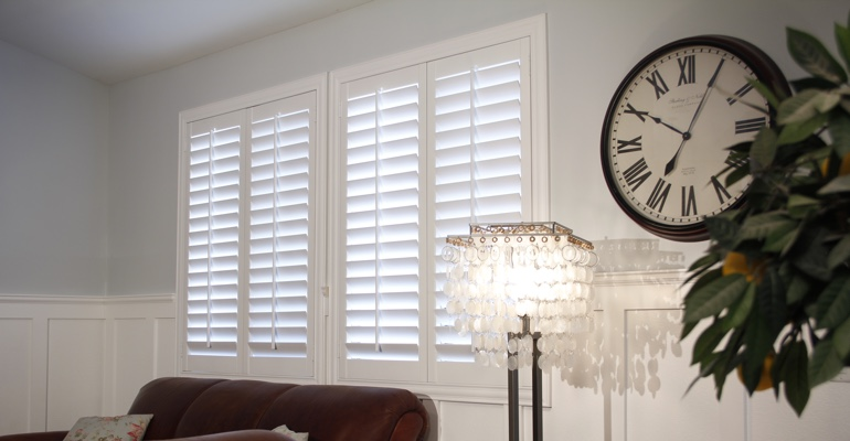 Sacramento living room interior shutters