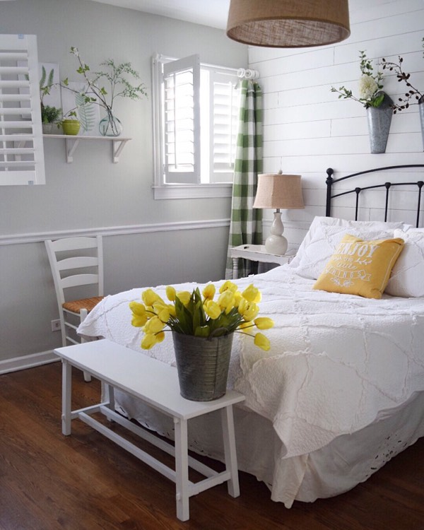 Sacramento cottage bedroom shutters