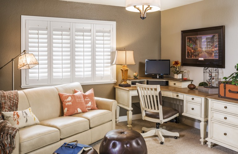 Home Office Plantation Shutters In Sacramento