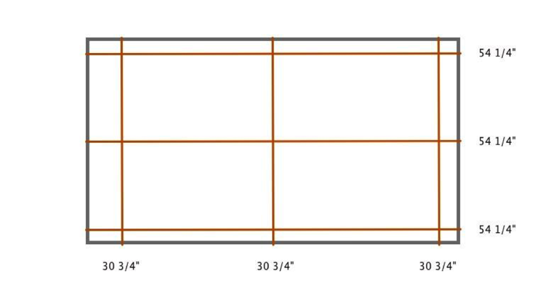 Sacramento indoor shutter measurement diagram