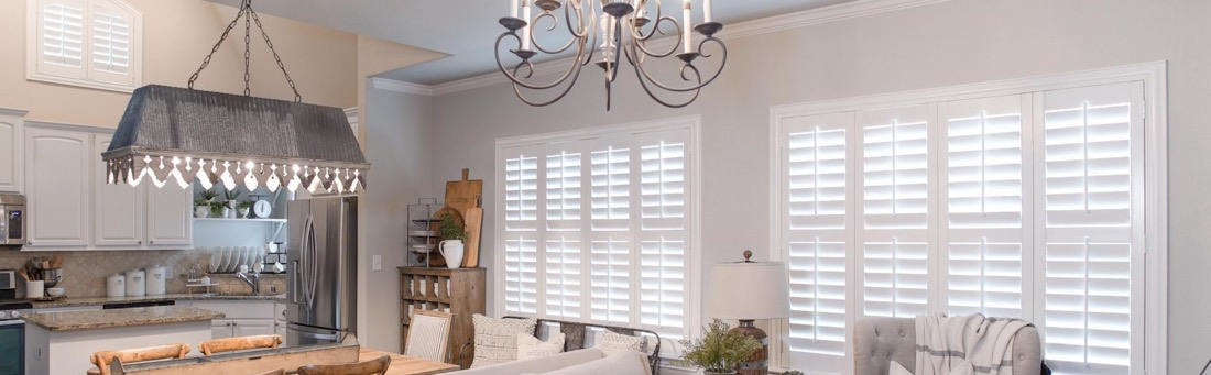 Rustic_Chic_Farmhouse_Industrial_Living_Room_Custom_Window_Treatments_Interior_Sunburst_Shutters_Whimsy_Girl_Design